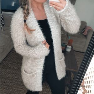 Express Soft Fuzzy Cardigan